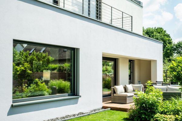 Baukonzept Potsdam Bildergalerie Modernes Einfamilienhaus mit überdachter Terrasse