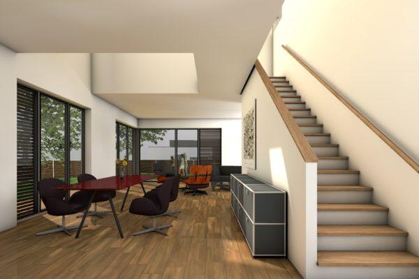 Das Kompakte Einfamilienhaus Perspektive Innen 1