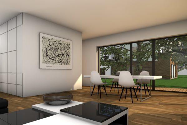 Modernes Haus Beispiel Inneneinrichtung 1