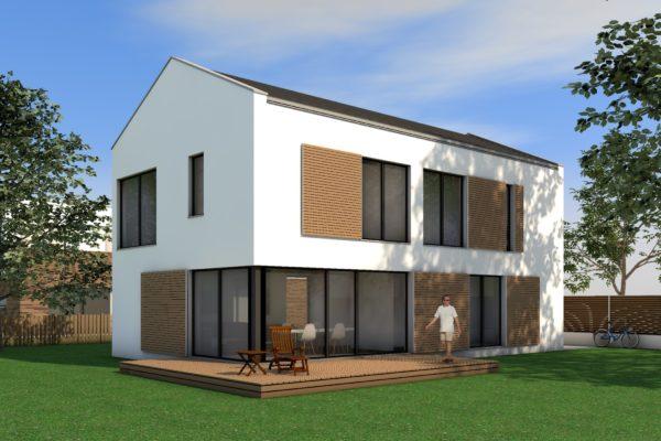 Modernes Haus mit Satteldach
